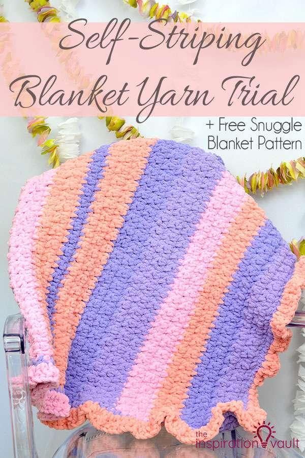 Self-Striping Blanket Yarn Trial Crochet Craft Tutorial and Free Pattern