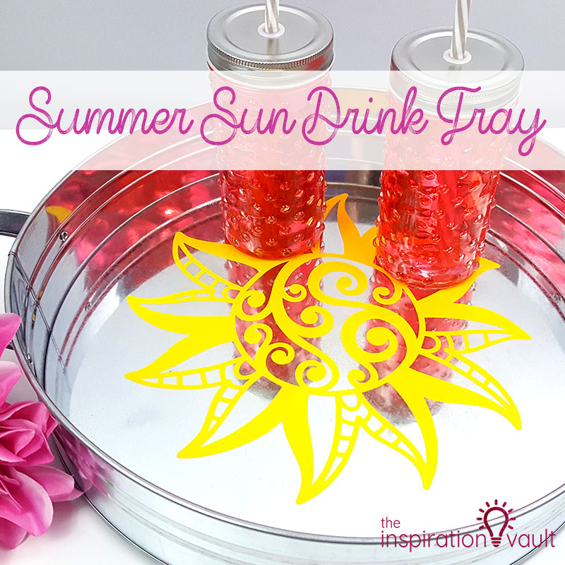 Summer Sun Drink Tray Feature
