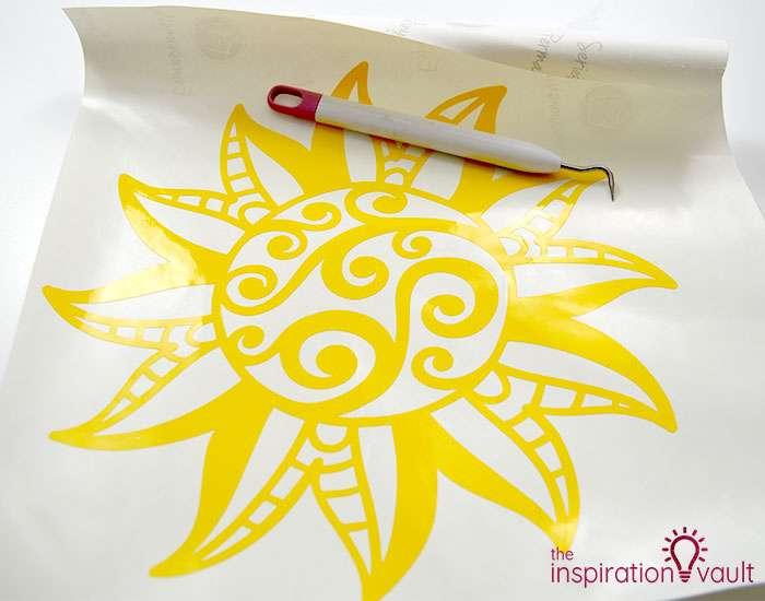 Summer Sun Drink Tray Step 3