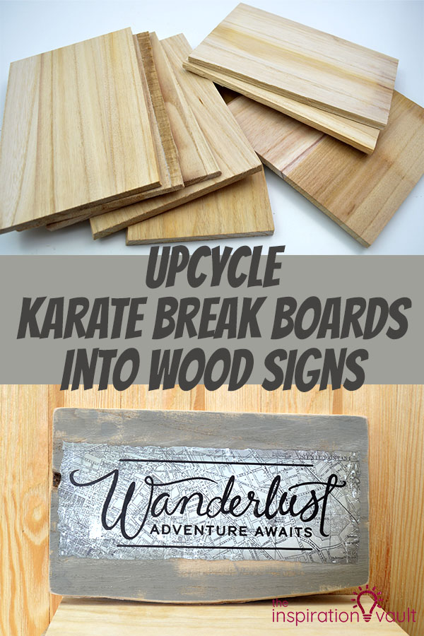 Upcycle Karate Break Boards into Wood Signs DIY Craft Tutorial