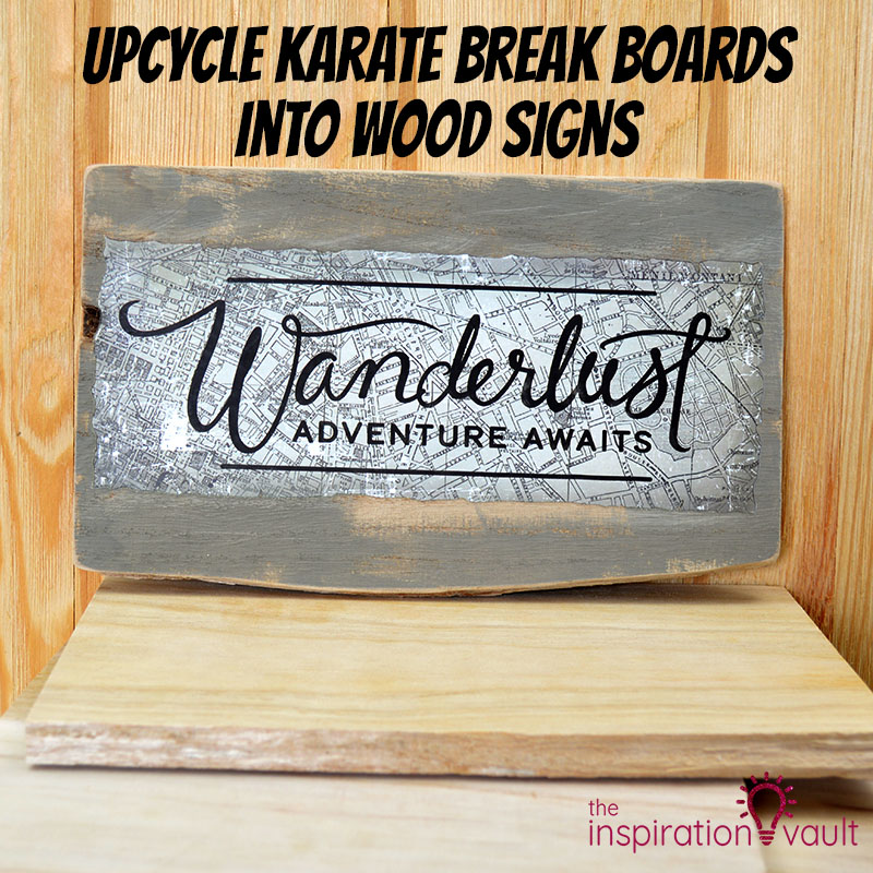 Upcycle Karate Break Boards into Wood Signs Feature