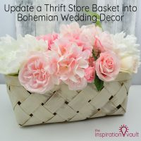 Update Thrift Store Basket Bohemian Wedding Decor Feature