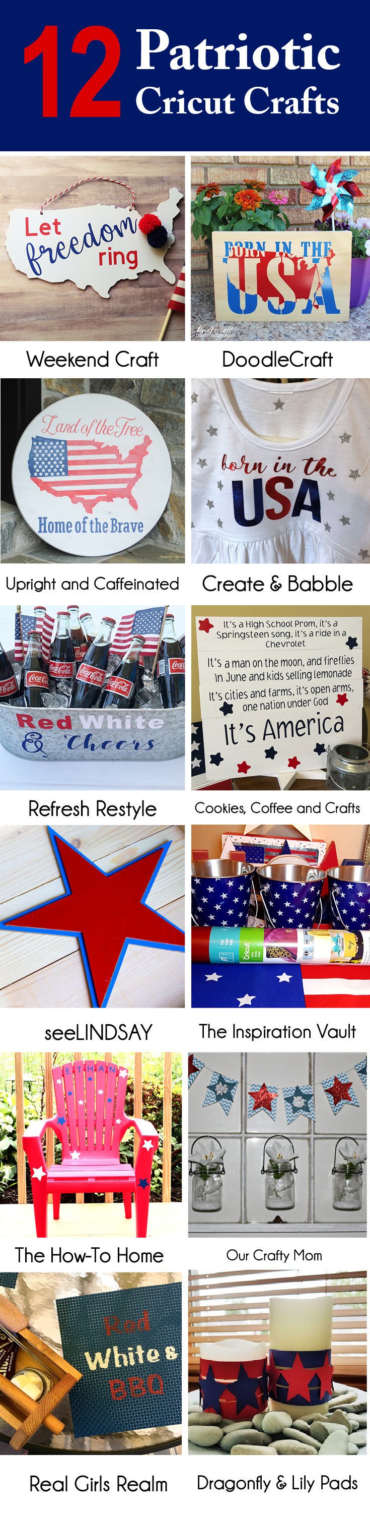 12 Patriotic Cricut Crafts