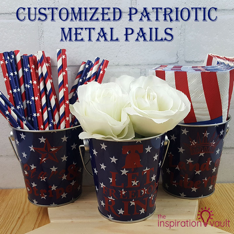 Customized Patriotic Metal Pails Feature