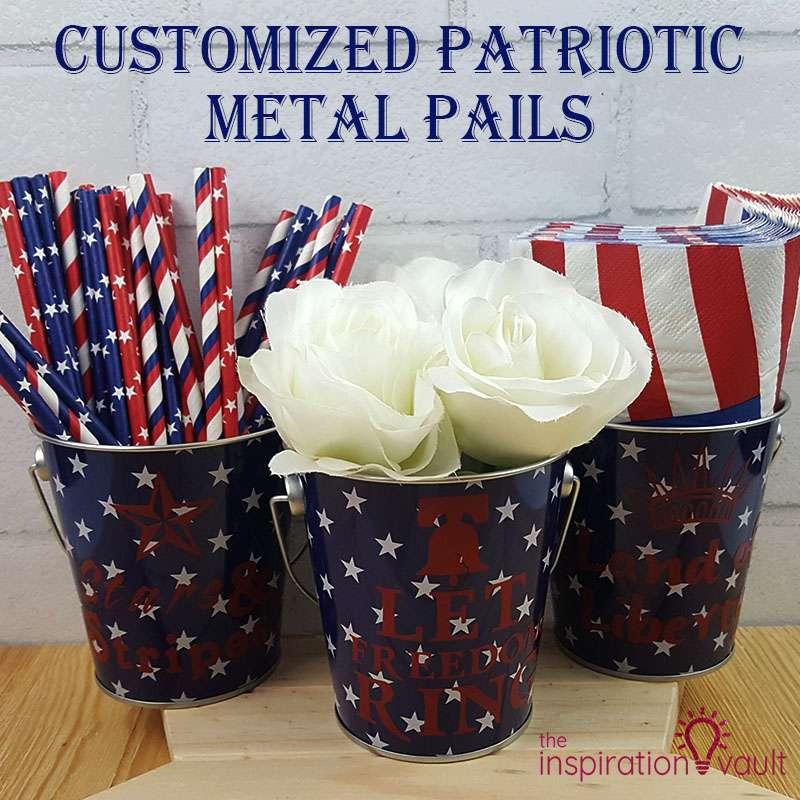 Customized Patriotic Metal Pails Feature