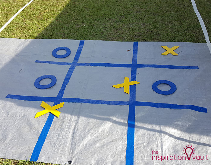 DIY Tic Tac Toe Tag Game 4 Player 2