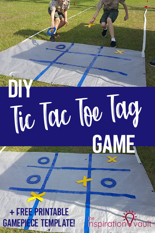 DIY Tic Tac Toe Tag Game Kids Activity Craft Tutorial