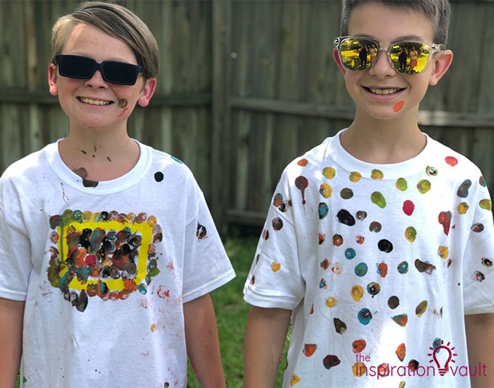 Nerf Battle Splatter Paint T-shirts Complete