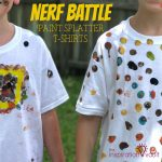 Nerf Battle Paint Splatter T-shirts