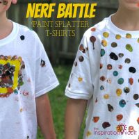 Nerf Battle Splatter Paint T-shirts Feature