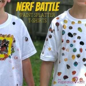 Nerf Battle Splatter Paint T-shirts Feature