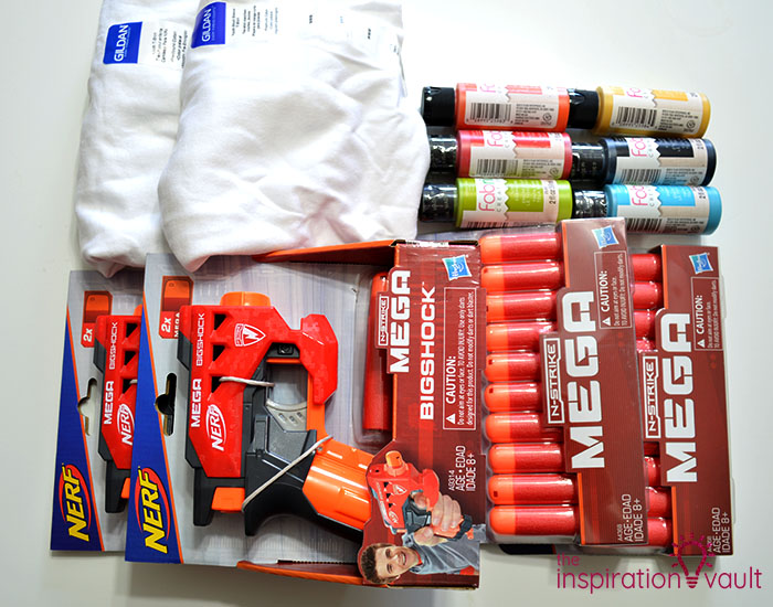 Nerf Battle Splatter Paint T-shirts Materials