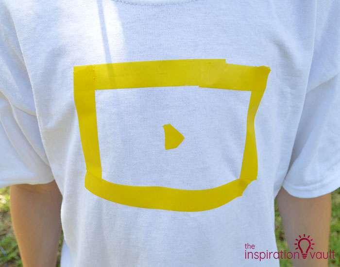 Nerf Battle Splatter Paint T-shirts Step 1