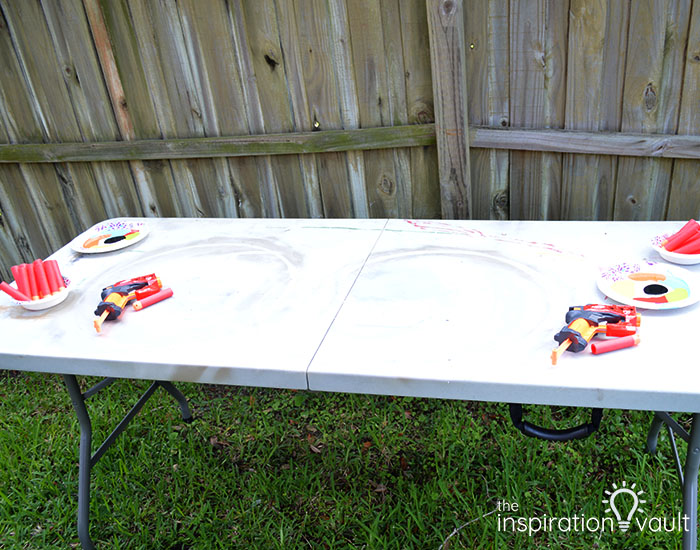 Nerf Battle Splatter Paint T-shirts Step 2b