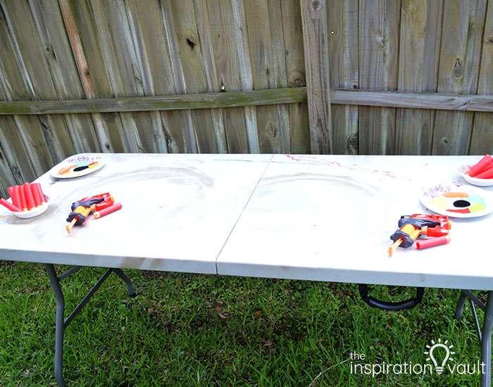 Nerf Battle Splatter Paint T-shirts Step 2b
