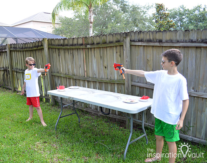 Nerf Battle Splatter Paint T-shirts Step 3a