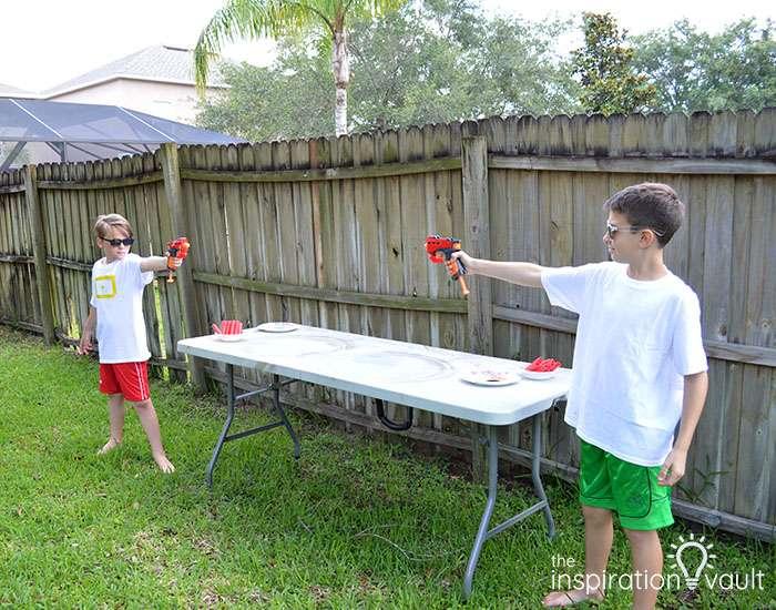 Nerf Battle Splatter Paint T-shirts Step 3a