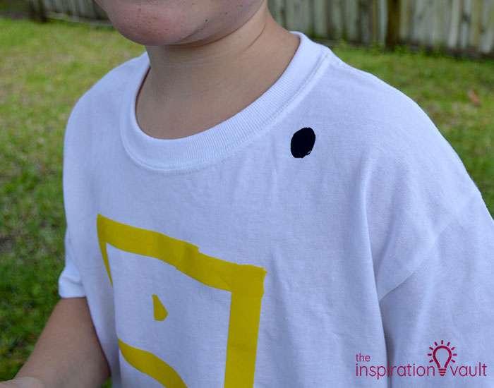 Nerf Battle Splatter Paint T-shirts Step 3b