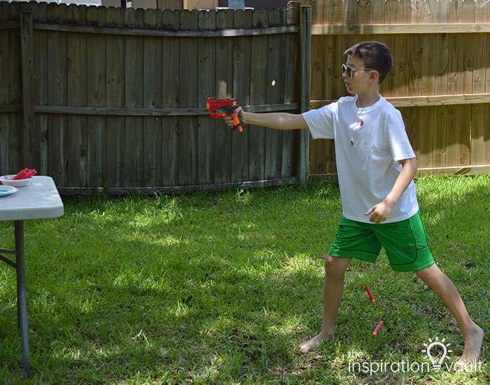 Nerf Battle Splatter Paint T-shirts Step 4c