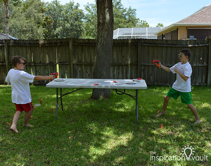 Nerf Battle Splatter Paint T-shirts Step 4e