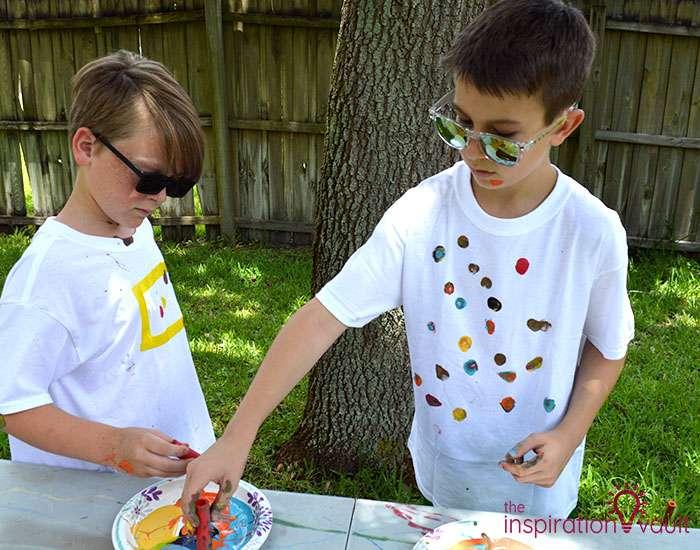 Nerf Battle Splatter Paint T-shirts Step 5