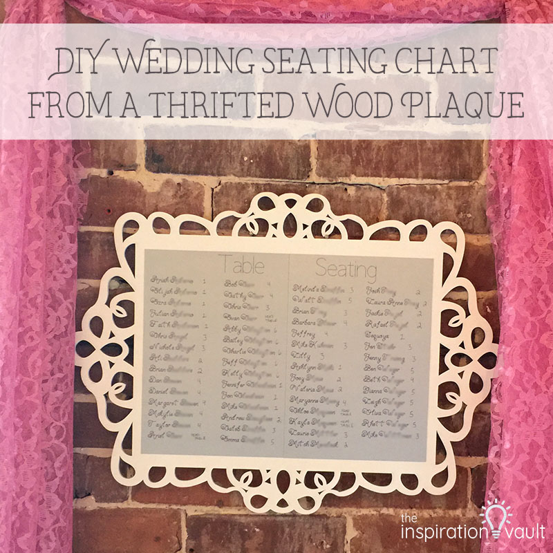 DIY Wedding Seating Chart from a Thrifted Wood Plaque - The ...