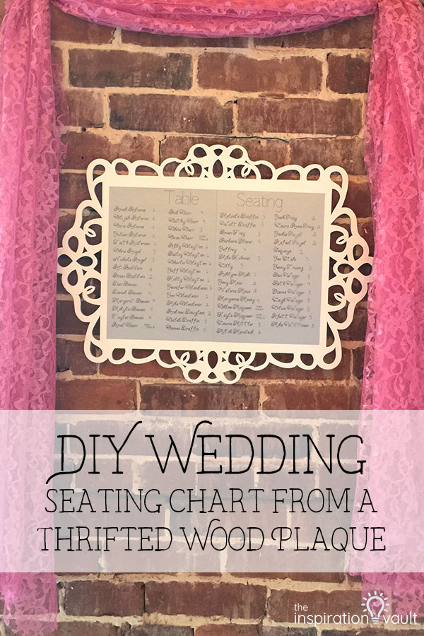 DIY Wedding Seating Chart Upcycle Thrift Store Craft Tutorial