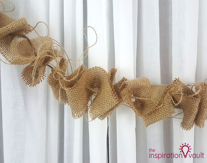 Make a Burlap Garland in Less Than 15 Minutes Complete