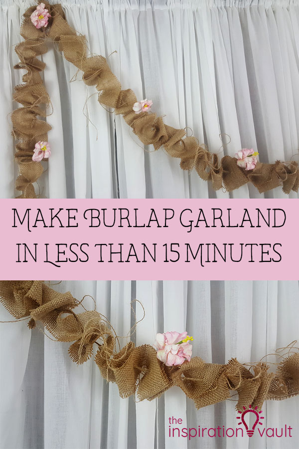Make a Burlap Garland in Less Than 15 Minutes DIY Craft Tutorial