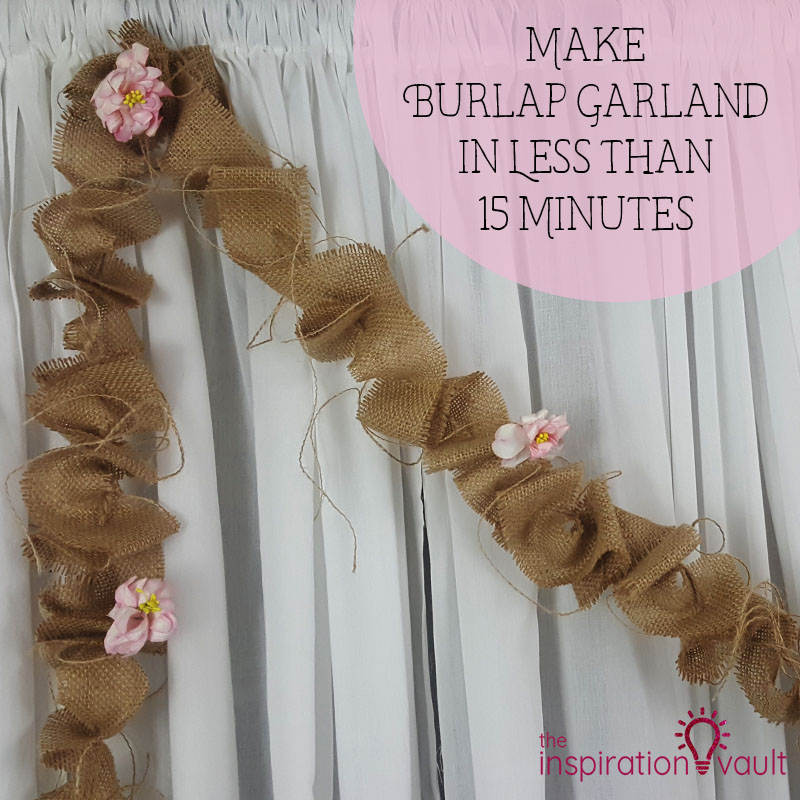 Make a Burlap Garland in Less Than 15 Minutes Feature
