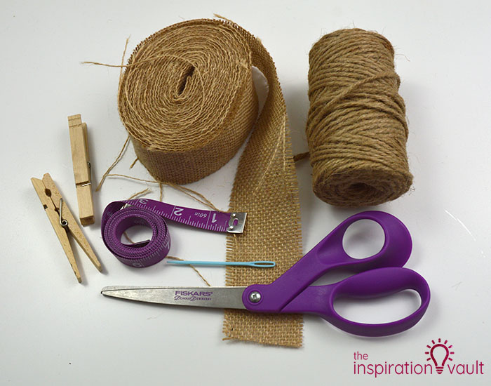 Make a Burlap Garland in Less Than 15 Minutes Materials