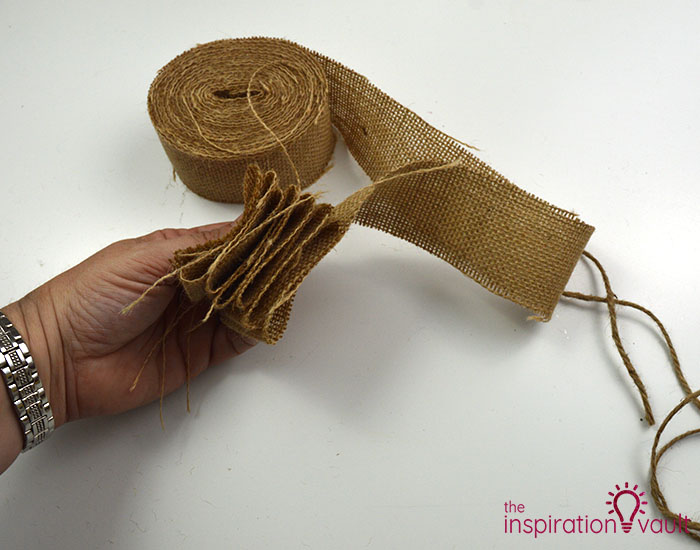 Make a Burlap Garland in Less Than 15 Minutes Step 3a