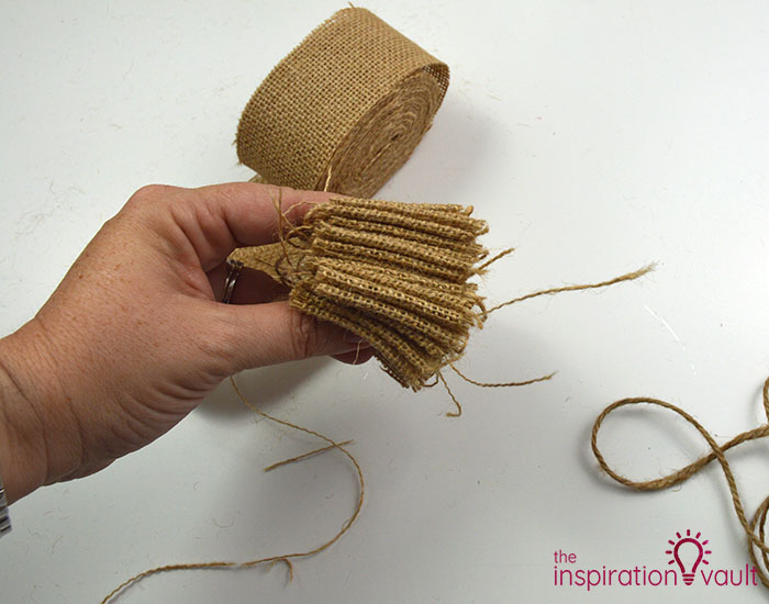 Make a Burlap Garland in Less Than 15 Minutes Step 3b