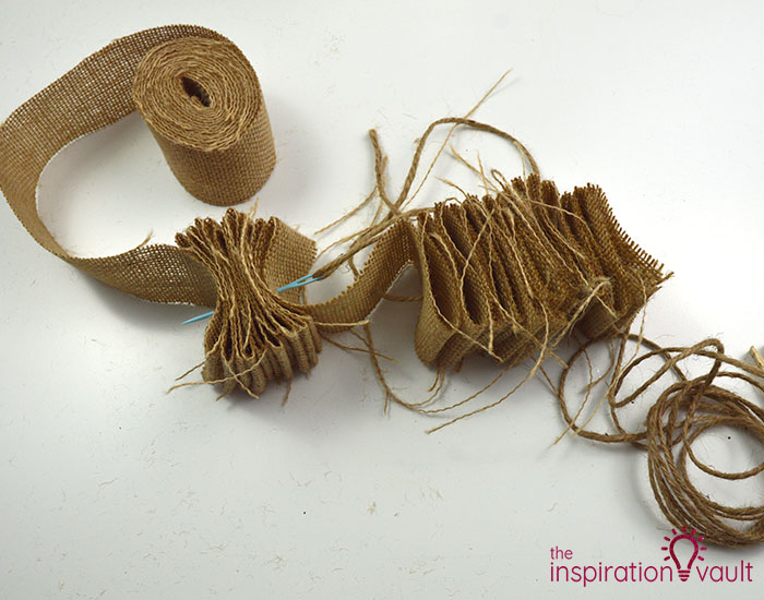 Make a Burlap Garland in Less Than 15 Minutes Step 5