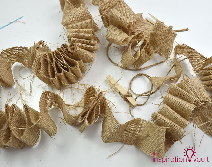 Make a Burlap Garland in Less Than 15 Minutes Step 8