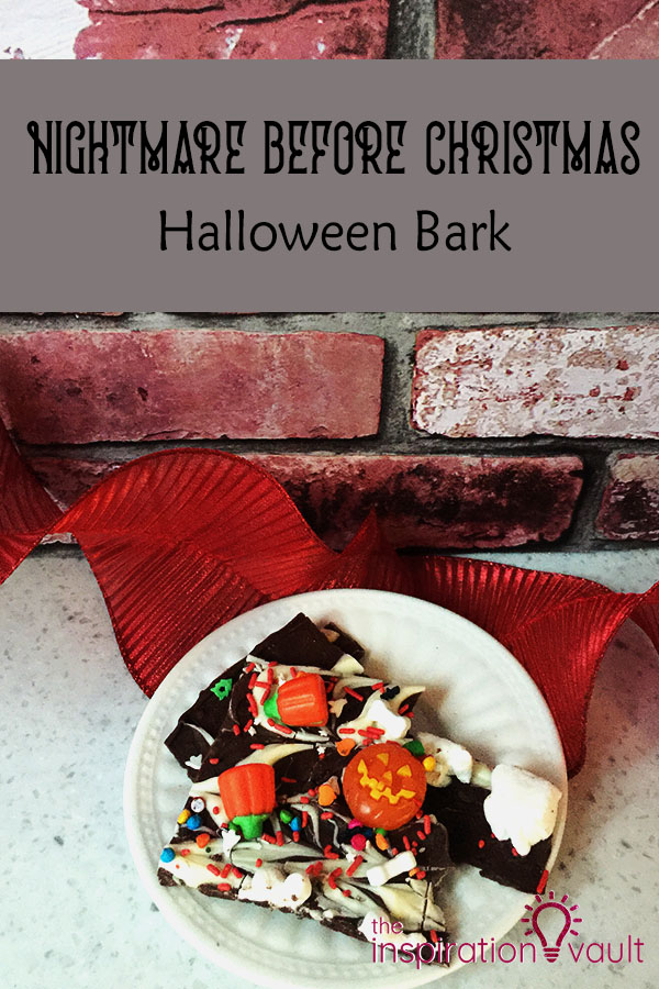 Nightmare Before Christmas Halloween Bark Party Food Tutorial DIY Candy Chocolate