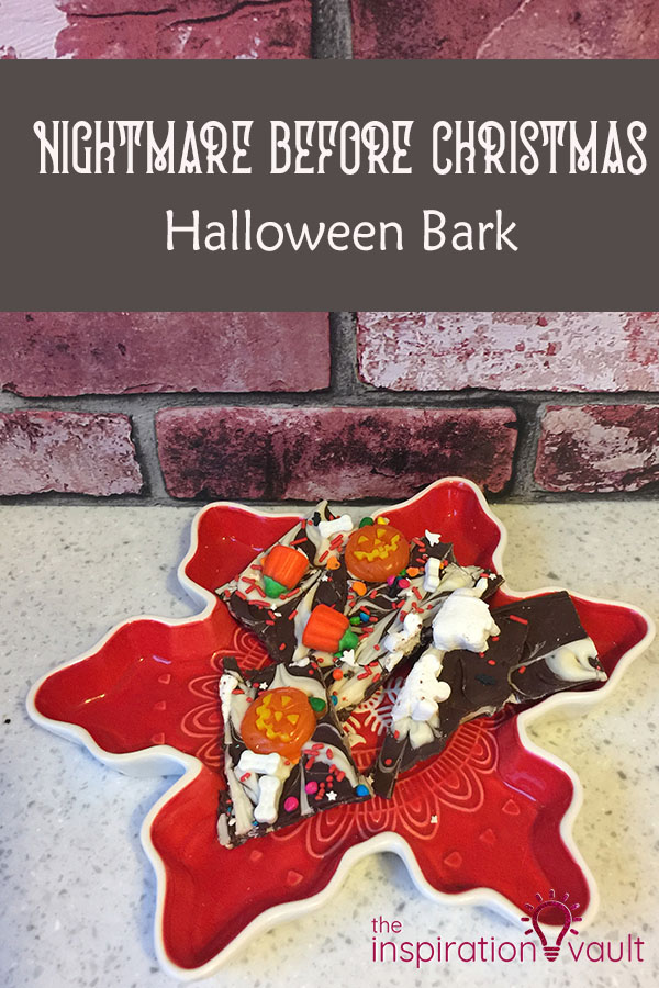 Nightmare Before Christmas Halloween Bark Party Food Tutorial DIY