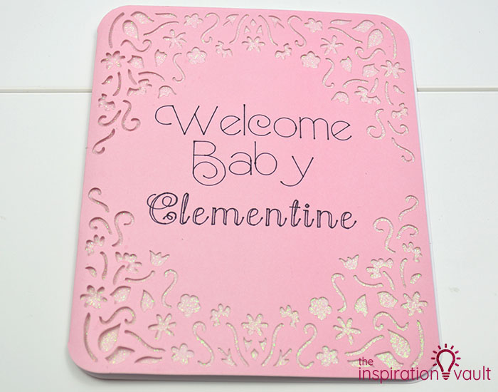 Personalized Baby Girl Cricut Card Step 10a