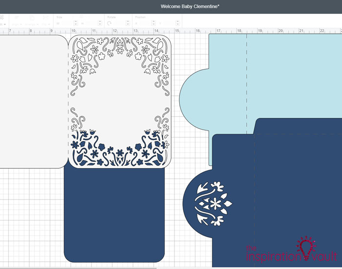 Personalized Baby Girl Cricut Card Step 4