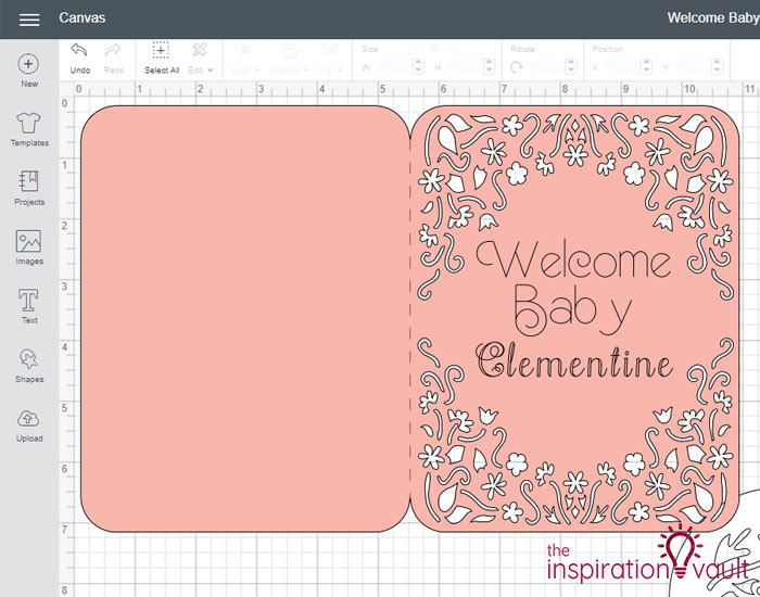 Personalized Baby Girl Cricut Card Step 7
