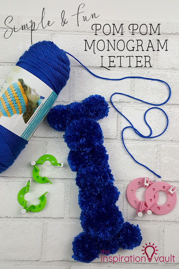 Pom Pom Monogram Letter DIY Craft Yarn Tutorial