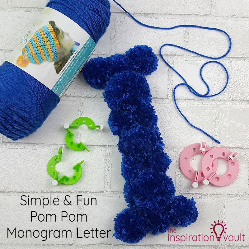 Pom Pom Monogram Letter Feature