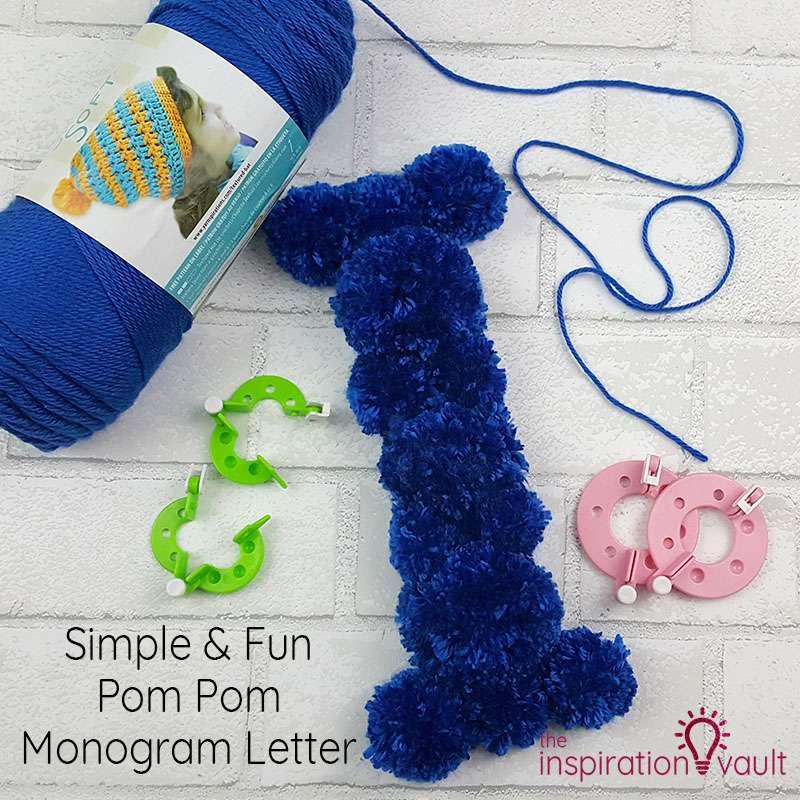 Pom Pom Monogram Letter Feature