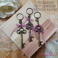 Vintage Key Bottle Opener Wedding Favors Feature