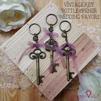 Vintage Key Bottle Opener Wedding Favors Feature