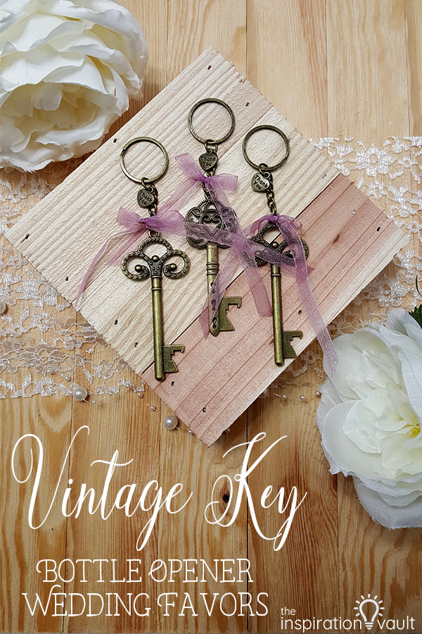 Vintage Key Bottle Opener Wedding Favors Keychain DIY Craft Tutorial