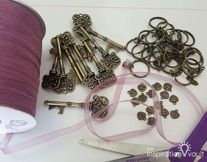 Vintage Key Bottle Opener Wedding Favors Materials