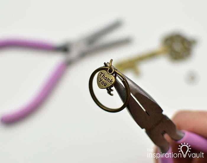 Vintage Key Bottle Opener Wedding Favors Step 2a