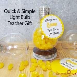 Light Bulb Teacher Gift Feature