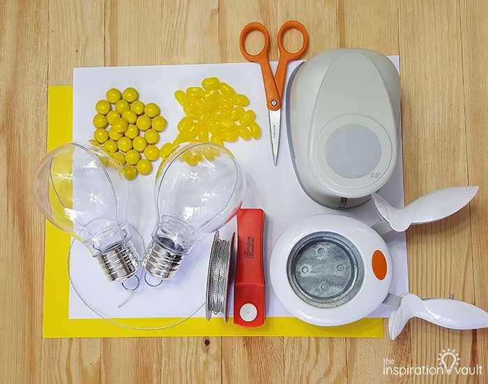 Light Bulb Teacher Gift Materials
